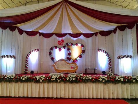 wedding reception stage decoration