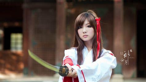 Japanese beauty warrior-beauty photo wallpaper-1366x768 ...