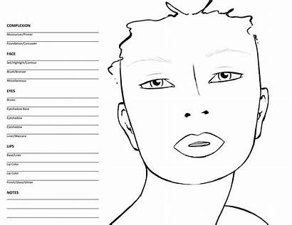Face Charts Blank Mac Chart Templates Female
