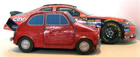 Fiat 500 And Nacsar Paper Models Monte Carlo-ss