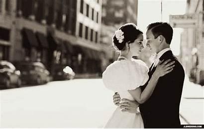 Bride Groom Kiss Gifs Married Animated Couple