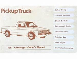 1981 Vw Rabbit Pickup Owners Manual Added