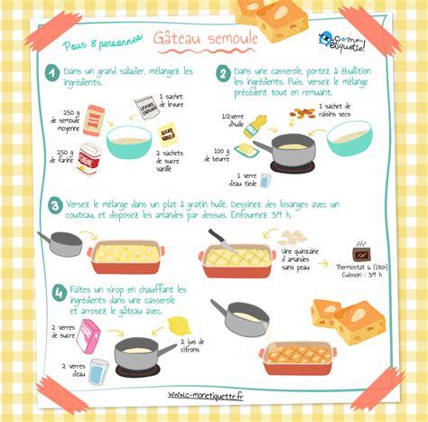 recette de cuisine drole recette gâteau semoule