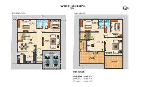 ef  bhk duplex villa floor plans villa floor plan  house plans