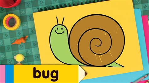 draw bugs simple drawing lesson  kids step