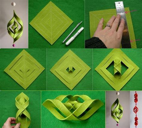 diy 3d felt ornament tutorial