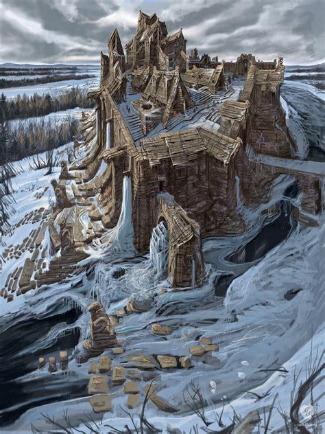 Artwork Windhelm Skyrim Bethesda Softworks