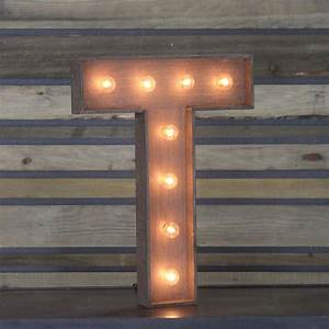 """Edison Marquee Letter - """"T"""" Town & Country Event Rentals"""