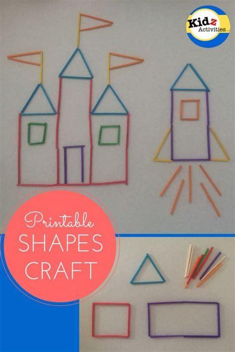 fine motor printable shapes craft  princess castle