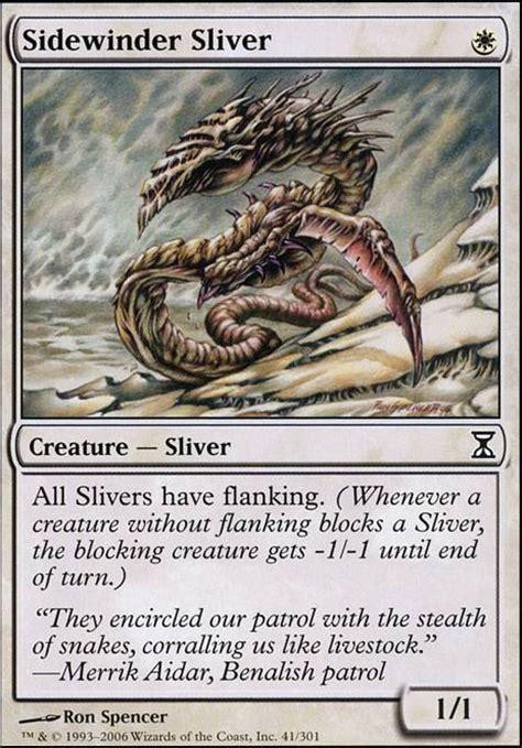 sliver deck mtg tappedout sidewinder sliver tsp mtg card