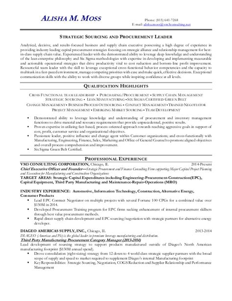 Strategic Sourcing Manager Resume by Resume Of Alisha Moss 3996