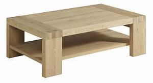 Table De Salon Bois : table salon chene table basse moderne design maisonjoffrois ~ Teatrodelosmanantiales.com Idées de Décoration