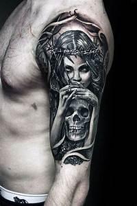 Tattoo Leben Und Tod : 50 life death tattoo designs for men masculine ink ideas ~ Frokenaadalensverden.com Haus und Dekorationen