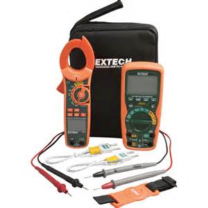 Extech Instruments Industrial Dmm Clamp Meter Test Kit