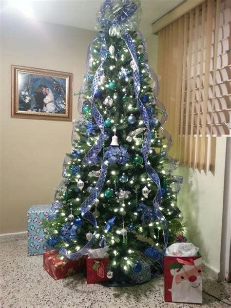 ribbon xmas tree design tree decorated with ribbons tree with blue ribbon decorating for