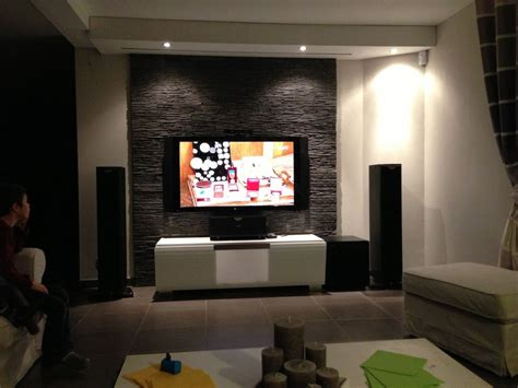 tv au mur mur tv home cin 233 ma avec 233 cran de projection int 233 gr 233 au plafond avec led id 233 es d 233 co en 2018