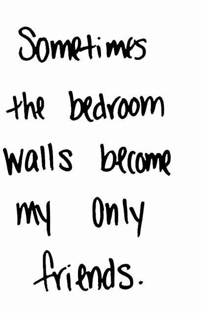 Transparent Sad Text Thought Lonliness Bedroom Wall