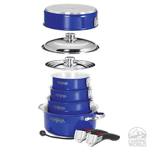 stainless steel cookware induction nesting camping cobalt stick non rv campingworld camper van