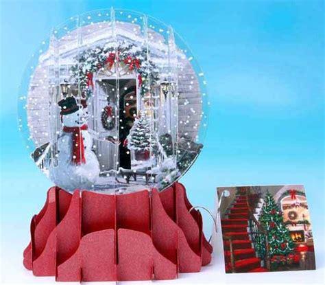 christmas door  snow globe card large snow globes