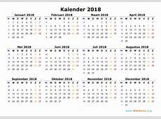 Kalender 2018 WikiDatesorg