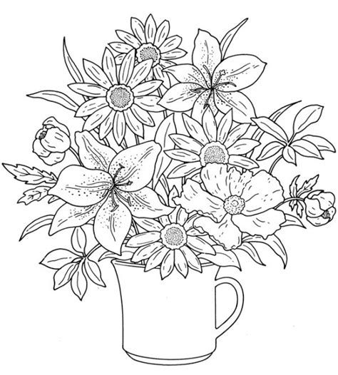 Coloring Flower by Flower Coloring Pages For Adults Best Coloring Pages For