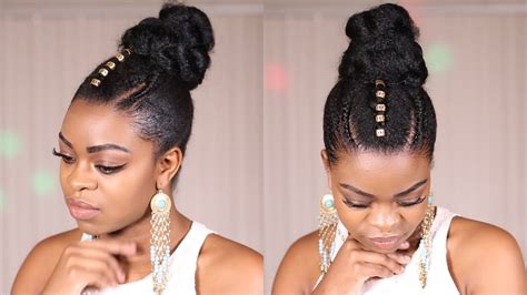 quick natural hair updo protective style youtube