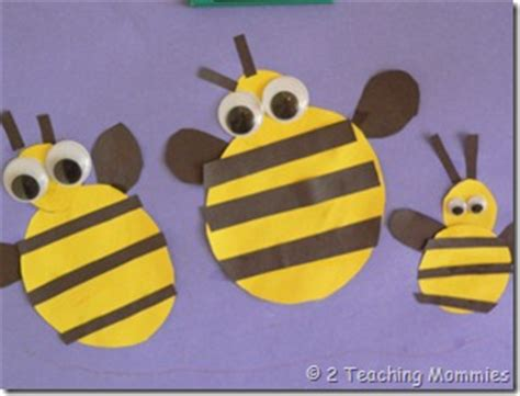 construction paper bees fun family crafts