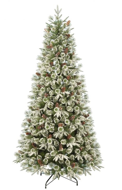 homebase christmas trees best artificial trees 2017 large trees 7ft emperor snowy tree goodtoknow
