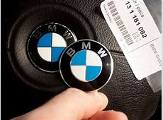 Changing BMW logo on the steering wheel