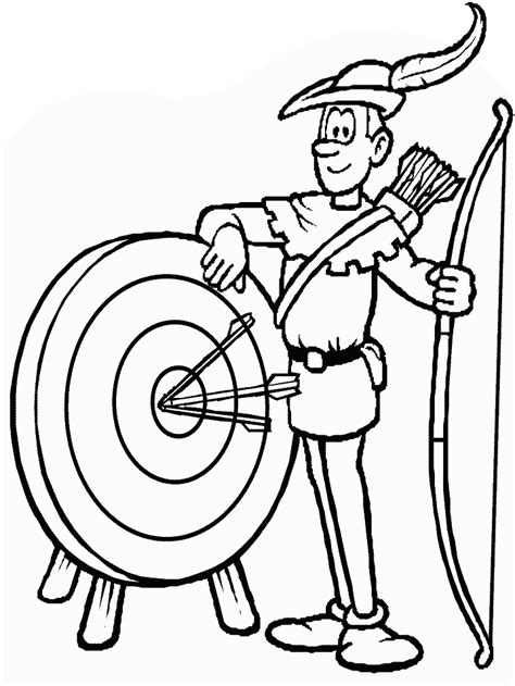 archer sports coloring pages coloring book