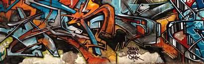Graffiti Wall Dual Monitor Abstract Screen Typography