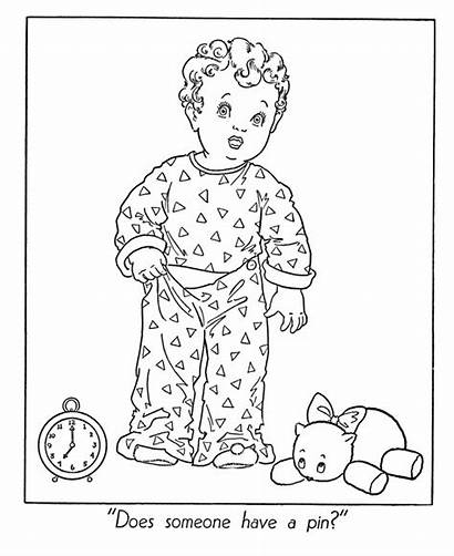 Pajamas Coloring Pajama Clipart Winter Activities Boy
