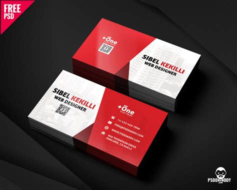 Business Card Psd Free Corporate Business Card Psd Uxfree