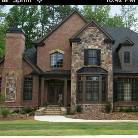 Brick And Stone Exterior Perfect!!!  House  Pinterest
