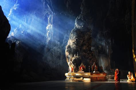 Interesting Photo of the Day: Inside a Buddhist Cave Temple