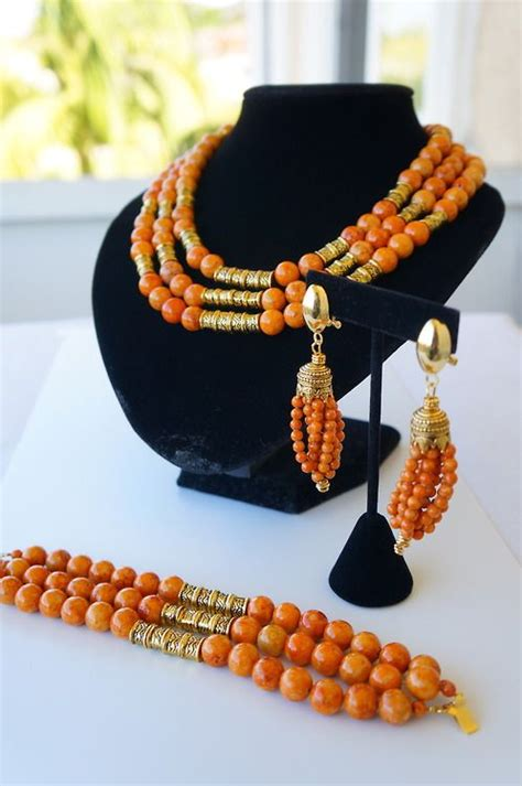 images  nigeria beaded necklaces  pinterest