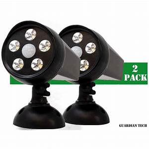 Walmart Solar Lights For Outside Guardian Tech Security Torch Led Spotlight 2 Pack