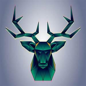 Polygon Deer Free Vector Art