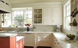 white kitchen with backsplash