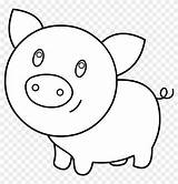 Pig Coloring Pen Easy Clipart Pages Clipartfest sketch template
