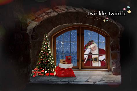 Backdrop Santa by Santa Looking Through Window Backdrop Pictures To Pin On
