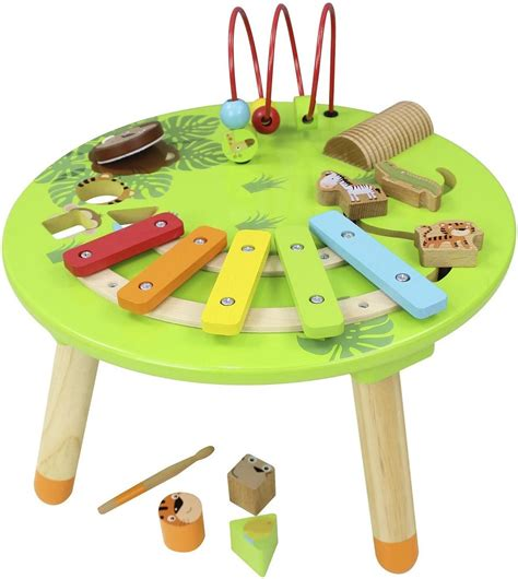 baby activity table wooden wooden musical activity table carousel supersavedirect