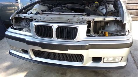bmw   front bumper cover removal