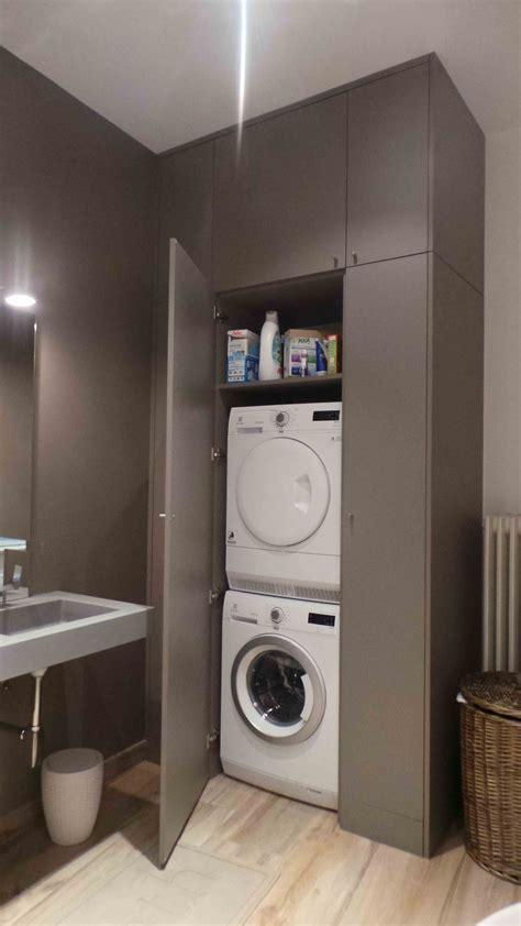 meuble pour machine a laver et seche linge