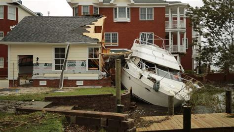 Boats Damaged By Hurricane Florence by Florence Damage In Carolina Updates By County