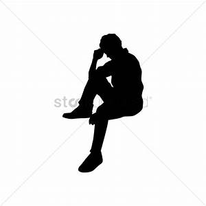 clipart silhouette of a person sitting - Clipground