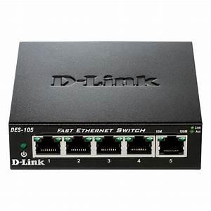 D-link 5-port 10  100 Fast Ethernet Switch-des-105