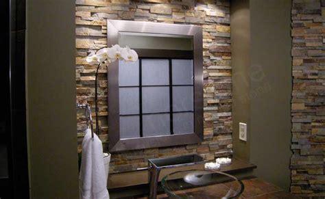 bathrooms  beautiful stone backsplash
