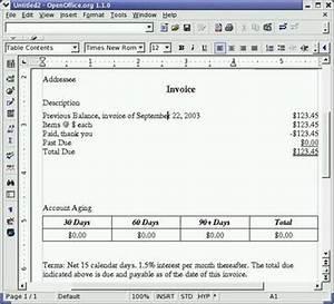 Openoffice Rechnung Erstellen : libreoffice und linux hilfe und tutorials rechnen in openoffice org textdokumente ~ Themetempest.com Abrechnung