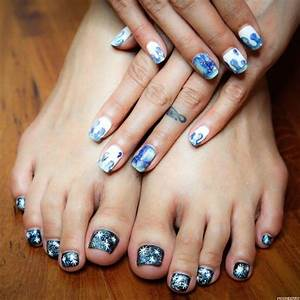 Milky Way and Galaxy Manicure Pedicure from Milly's Hair ...